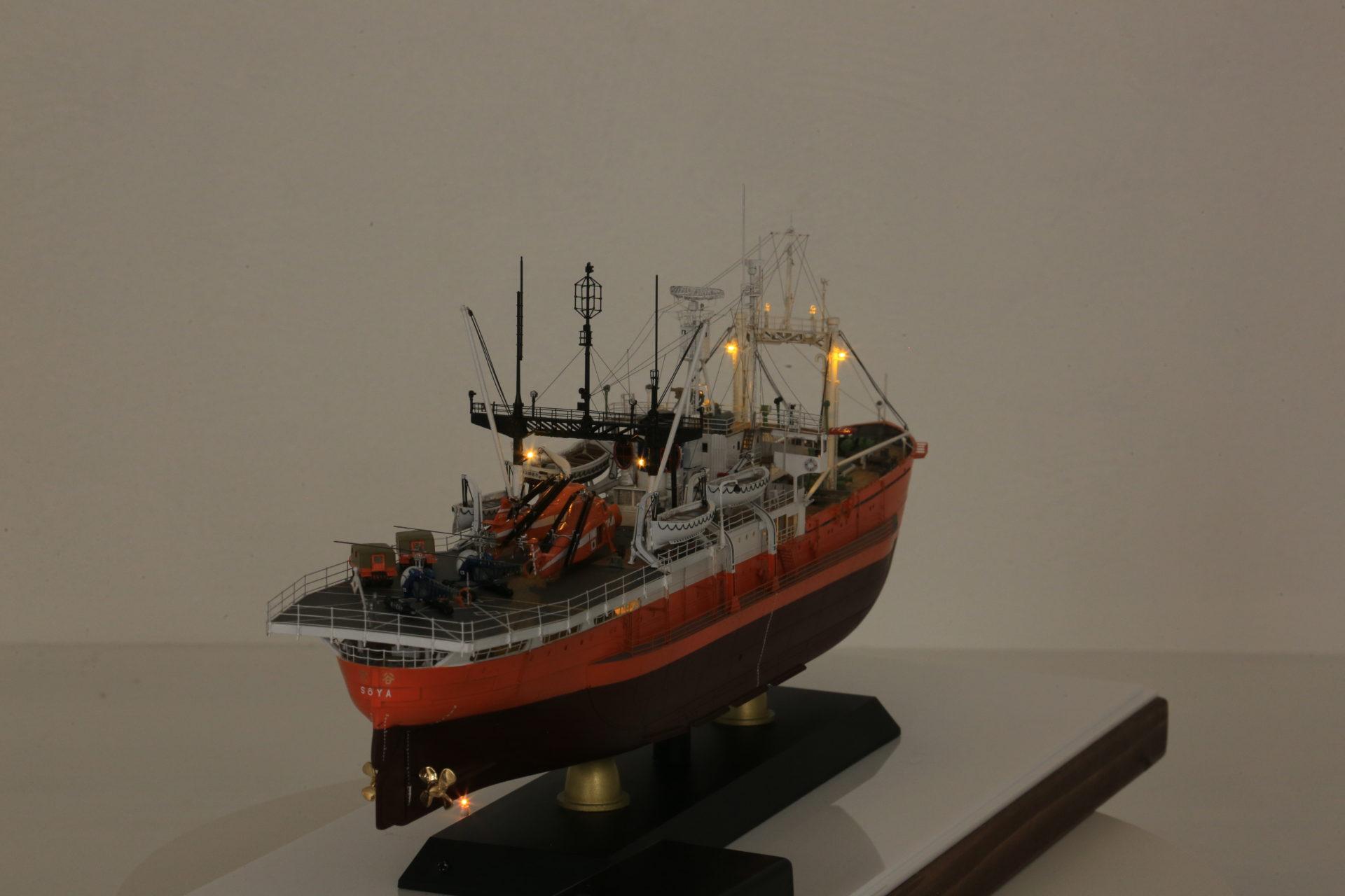 1/250 南極観測船 第三次南極観測隊 宗谷 SOYA  ポントスモデル きたむらよしたか よしくんのクルクルマーケット